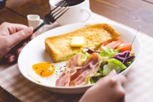 洋食の朝ごはん